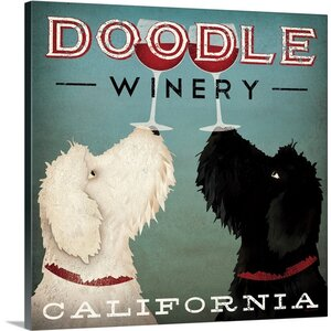 'Doodle Wine' by Ryan Fowler Vintage Advertisement on Wrapped Canvas by Great Big Canvas