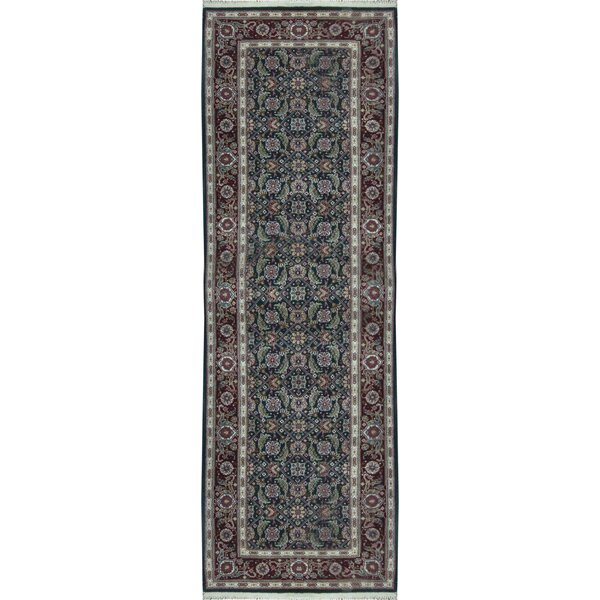 Hand Knotted Wool Green Rug