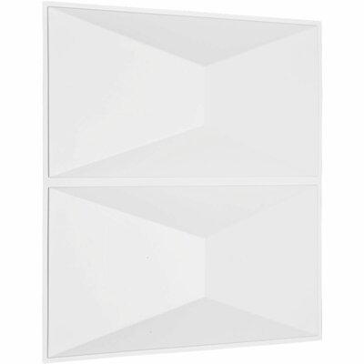 "Aberdeen Paintable Wallpaper Panel Ekena Millwork Size: 11.87"" x 11.87"""