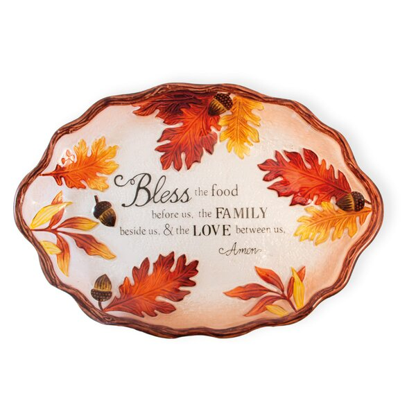 Davis Acorn and Leaf Oval Platter by The Holiday Aisle