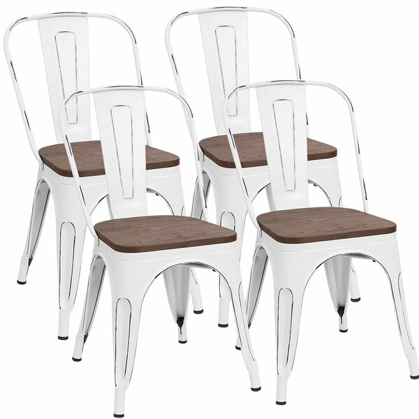 Glennie Metal Slat Back Side Chair (Set Of 4) By Williston Forge