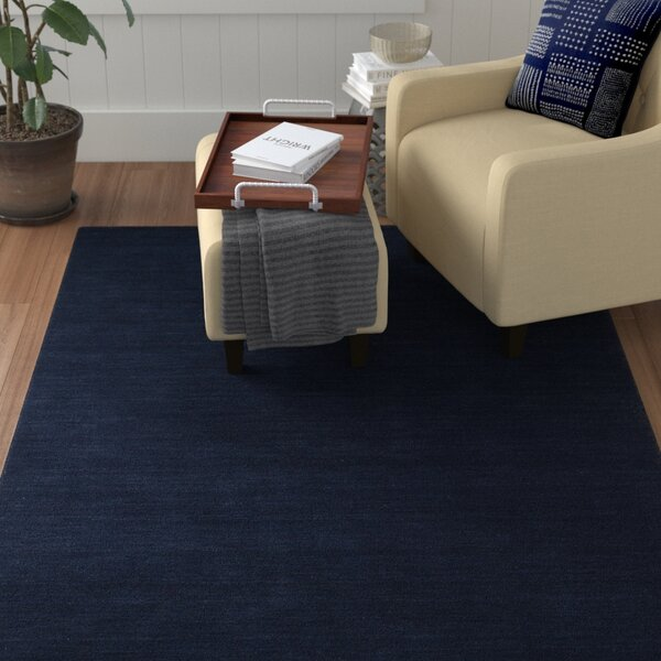 McCabe Hand-Loomed Navy Area Rug by Red Barrel Studio