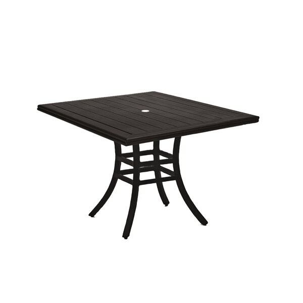 Cort Wrought Aluminum Dining Table by Summer Classics