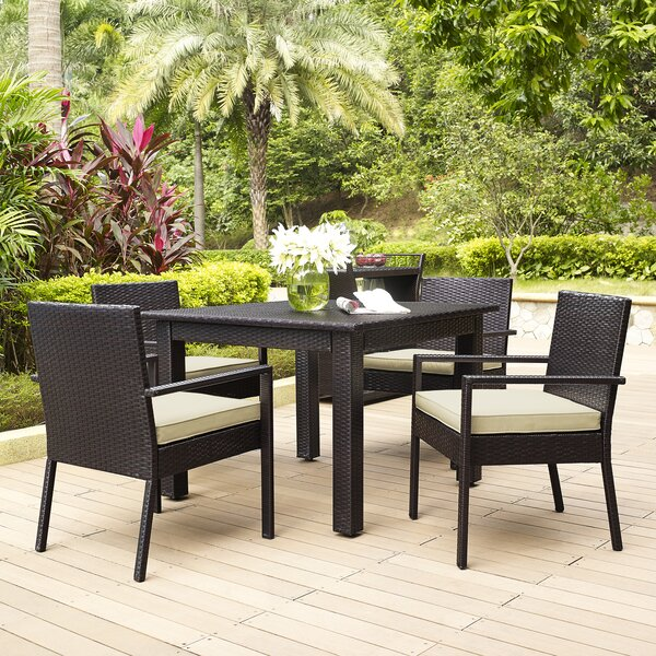 Belton 5 Piece Dining Set with Cushions by Mercury Row