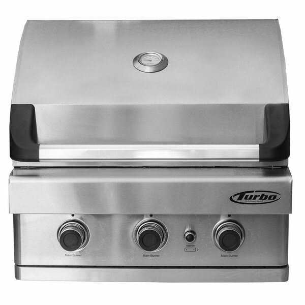 Turbo 3-Burner Built-In Gas Grill by Barbeques Gal