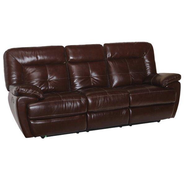 Tig Leather Reclining Sofa By Red Barrel Studio