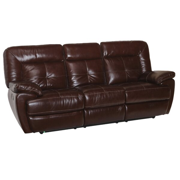 Tig Leather Reclining Sofa By Red Barrel Studio