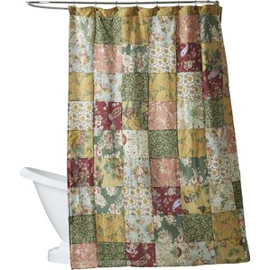 yellow and purple shower curtain. St  John Cotton Shower Curtain Patchwork Curtains You ll Love Wayfair