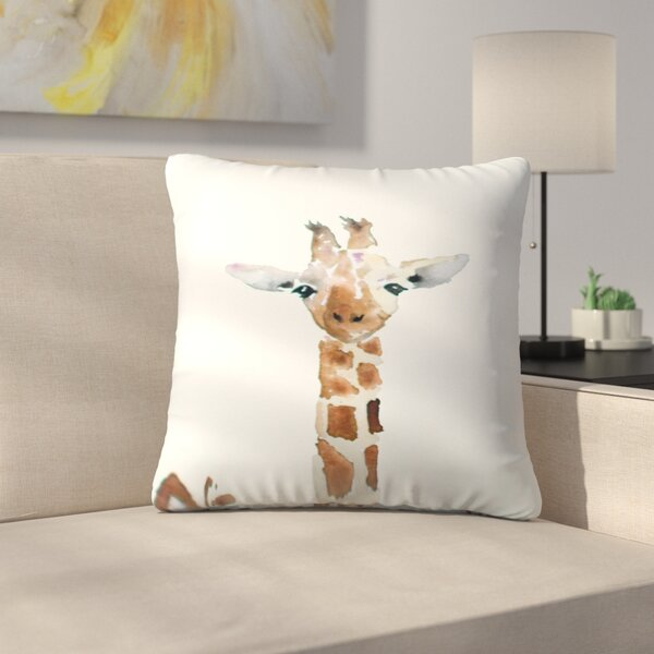 Giraffe Throw Pillow by East Urban Home
