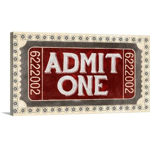 Admit One by PI Studio Vintage Advertisement by Great Big Canvas