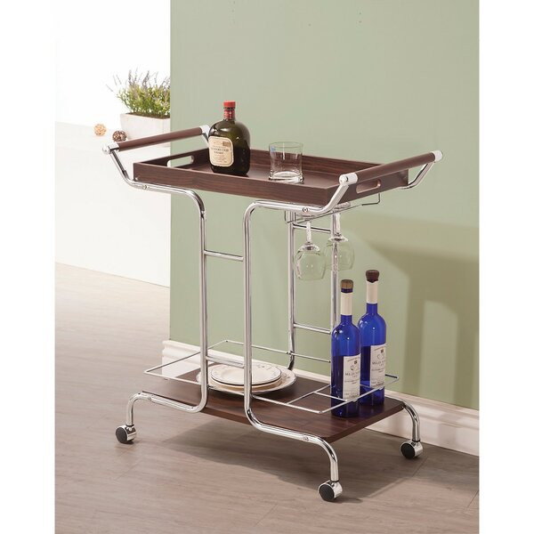 Wesneski Stylish Metal Bar Carts by Ebern Designs