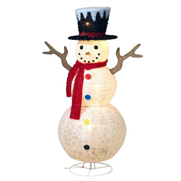 Lighted Outdoor Snowman Figurine by Gerson International