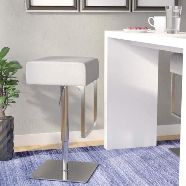 Sophocles Adjustable Height Swivel Bar Stool by Wade Logan