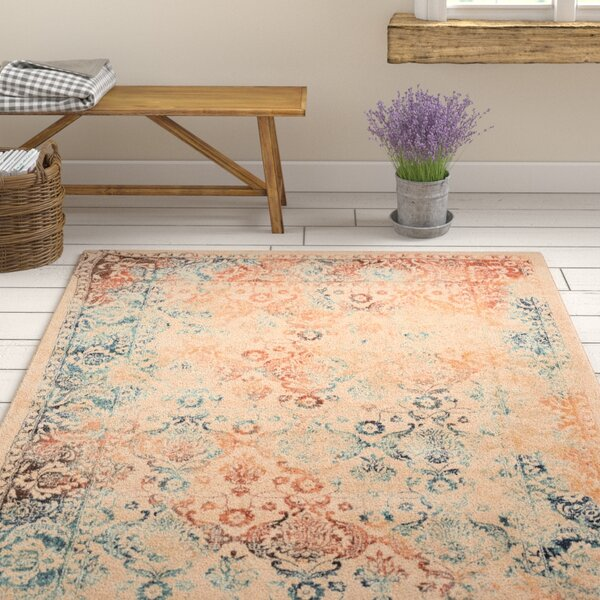 Aquila Beige/Cream Area Rug by Ophelia & Co.