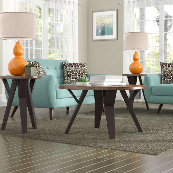 Sliva 3 Piece Coffee Table Set by Mercury Row