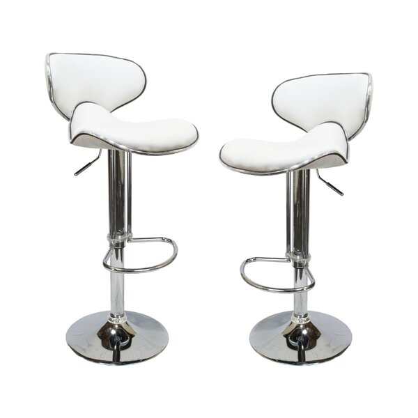 Helix Modern Adjustable Swivel Bar Stool (Set of 2) by BestMasterFurniture