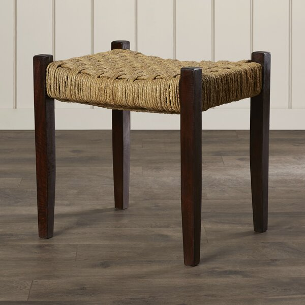 Amathous Woven Jute Vanity Stool by Bay Isle Home