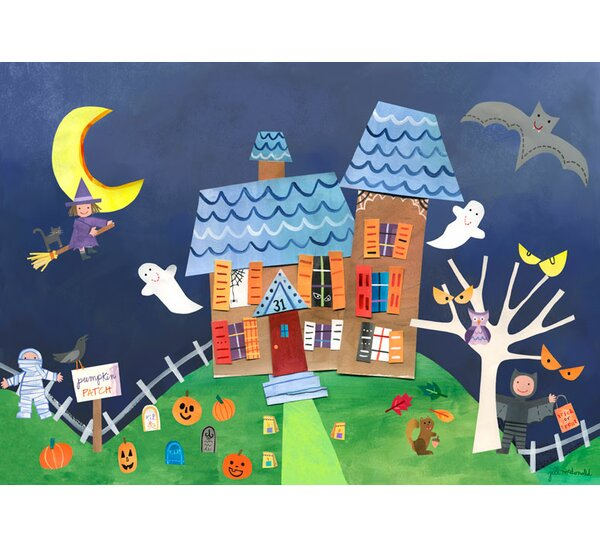 Halloween Haunted House Children Placemat by Oopsy Daisy