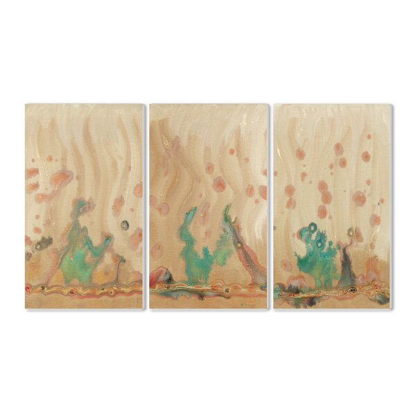 Plankton Collage 3 Piece Triptych Wall Plaque Set by Stupell Industries
