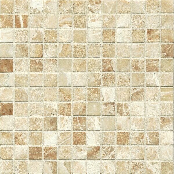 Onyx 1 x 1 Marble Mosaic Tile in Manisa Cream by Bedrosians