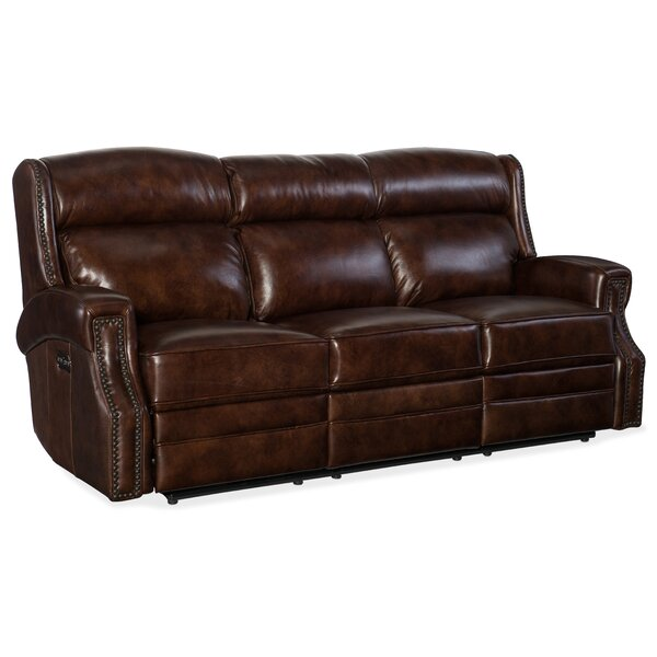Carlisle Leather Reclining Sofa by Hooker Furniture