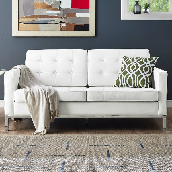 Gayatri Leather Loveseat by Orren Ellis