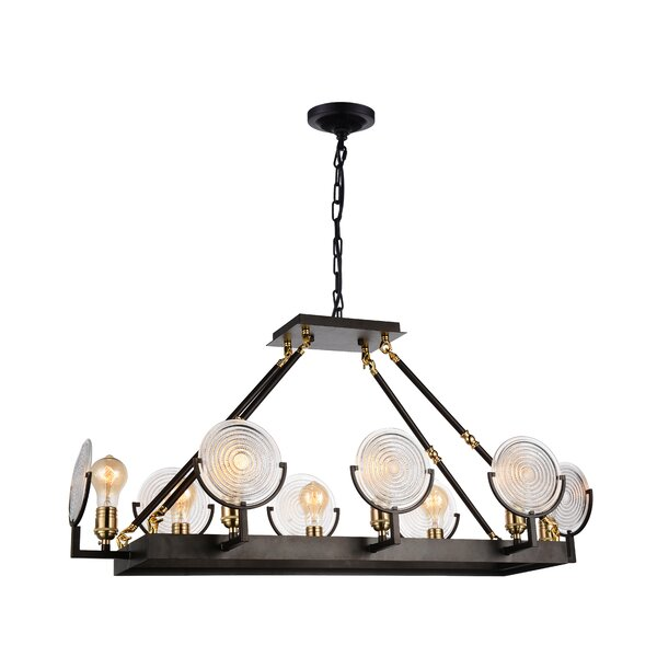 Bhima 8-Light LED Kitchen Island Pendant by CWI Lighting