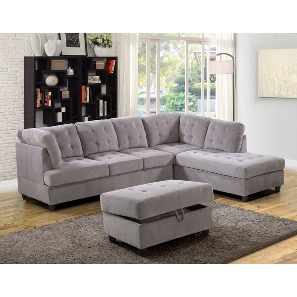 Southard Sectional With Ottoman By Ebern Designs