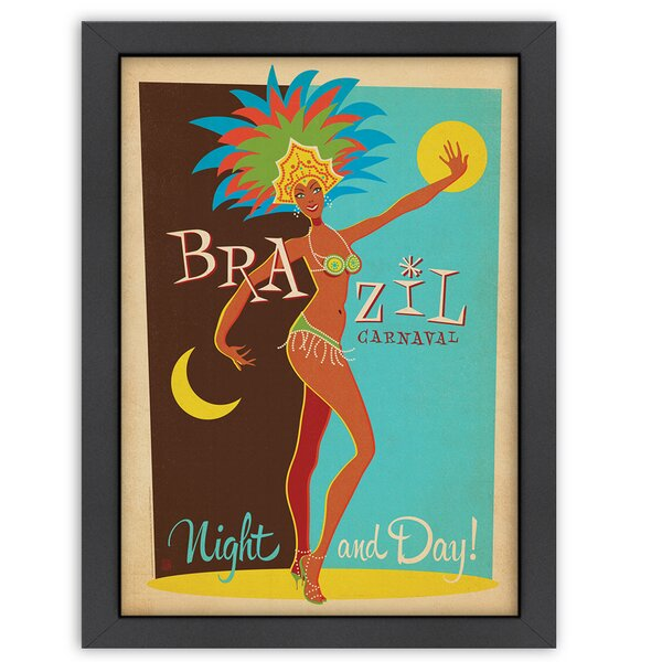 Carnaval Day and Night Framed Vintage Advertisement by East Urban Home