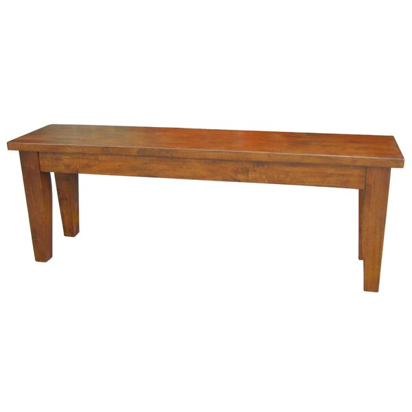 ClipperCove Wood Bench by August Grove