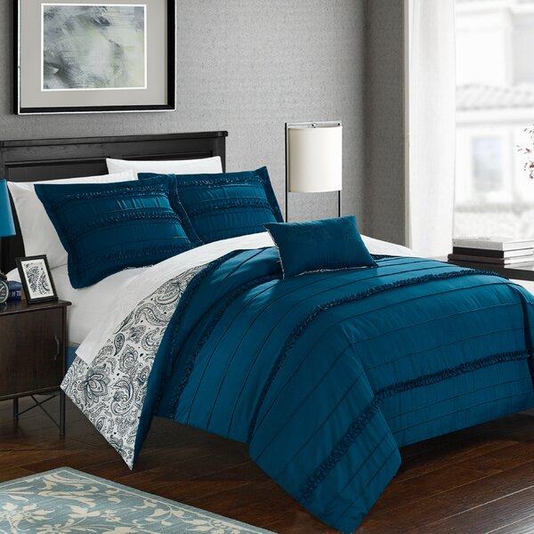 Eliza Reversible Duvet Cover Set by Chic Home