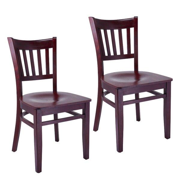 Jimenez Slatback Solid Wood Dining Chair (Set of 2) by Charlton Home