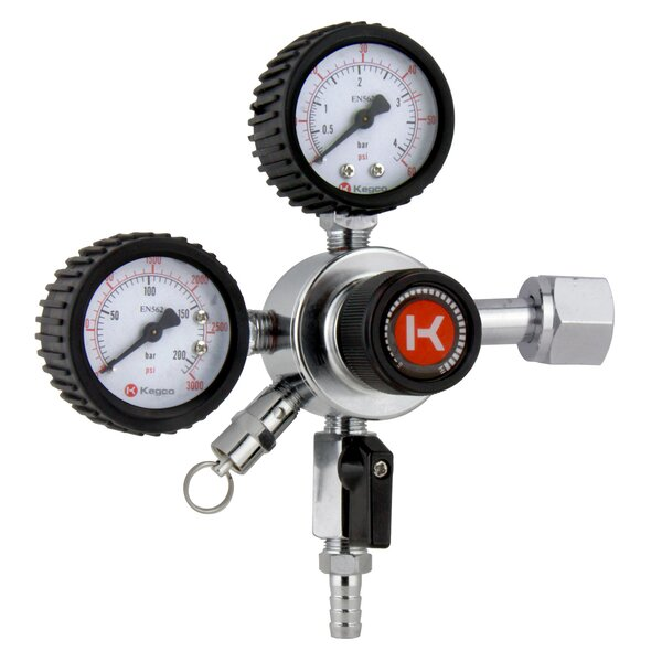 Premium Dual Gauge CO2 Draft Beer Single Tap Commercial Grade Regulator by Kegco