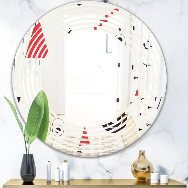 Wave Triangular Design III Modern Frameless Wall Mirror