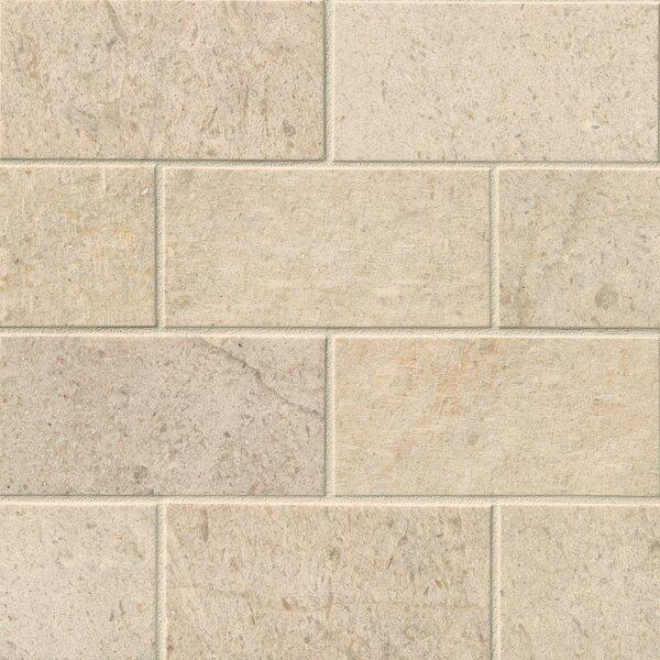 3 x 6 Limestone Subway Tile in Coastal Sand by MSI