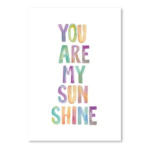 You Are My Sunshine Textual Art by Wrought Studio