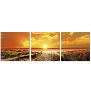'Sunrise Meadow' 3 Piece Photographic Print Set by Highland Dunes