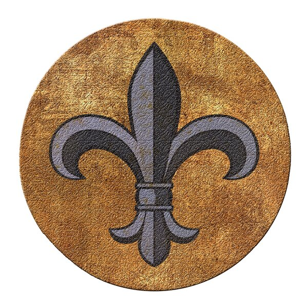 Fleur de Lis Cork Coaster Set (Set of 6) by Thirstystone