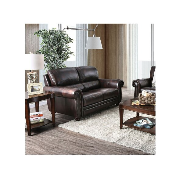 Brodeur Leather Standard Loveseat by Darby Home Co