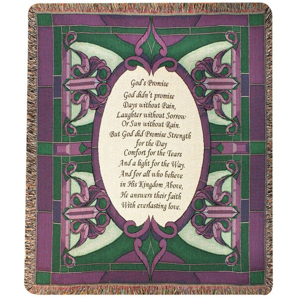 Gods Promise Tapestry Cotton Throw By Manual Woodworkers Weavers.