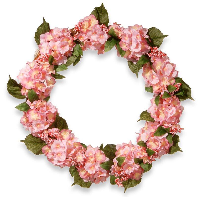 32 in. Hydrangea Wreath