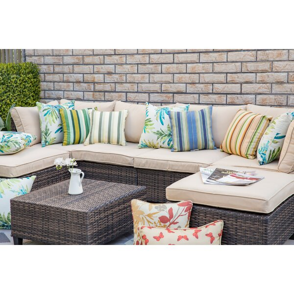 Isamar 7 Piece Sectional Seating Group with Cushions by Rosecliff Heights