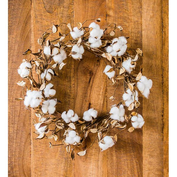 24 Cotton Wreath by Wind & Weather