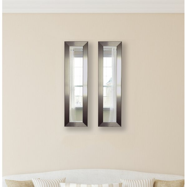 2 Piece Wanneroo Petite Panels Mirror Set by Wrought Studio