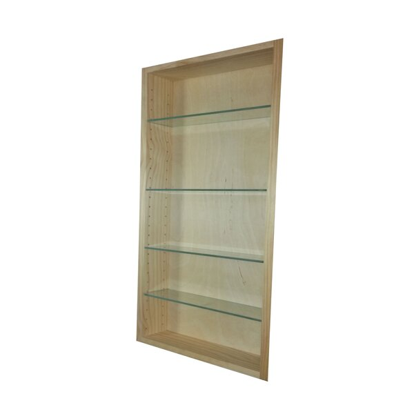 Aurora 13.5 W x 47.5 H Recessed Cabinet by WG Wood Products