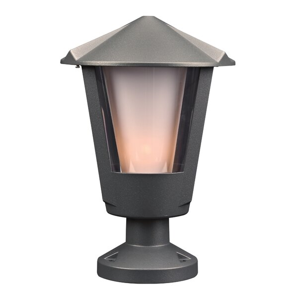 Grecia Outdoor 1-Light Pier Mount Light by Charlton Home