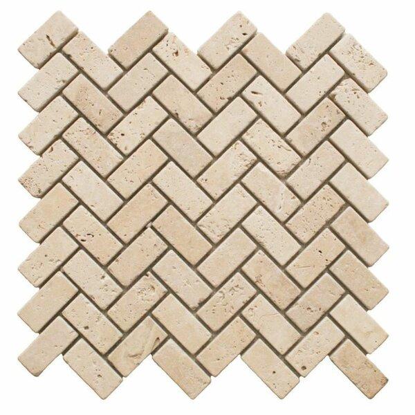 1 x 2 Travertine Chevron Mosaic Wall & Floor Tile