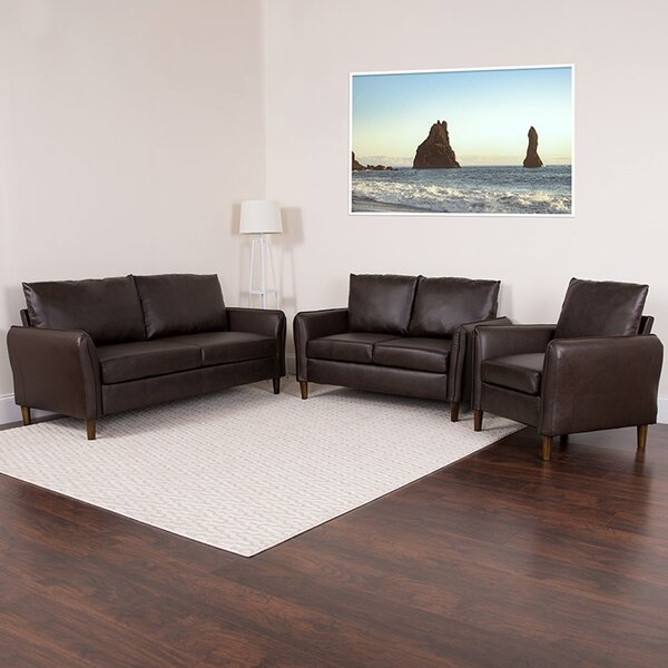 Pirro Upholstered 3 Piece Living Room Set by Latitude Run