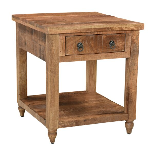 Kristen End Table with Storage by Loon Peak