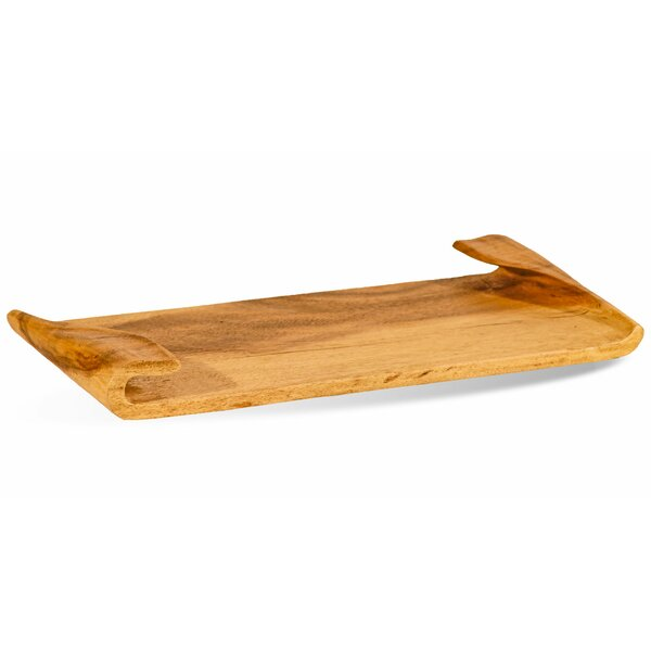 Wrap Carved Serving Tray by Ibolili